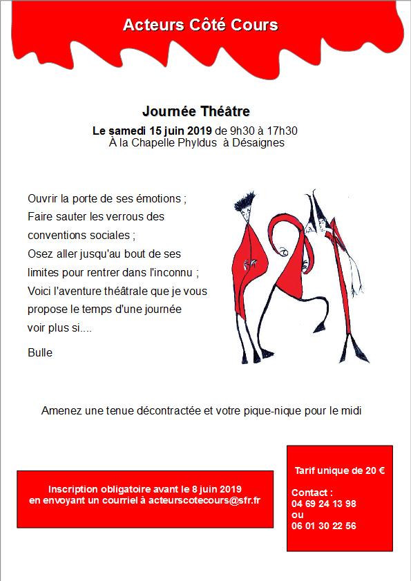affiche journée theatre du 15 juin desaignes chapelle