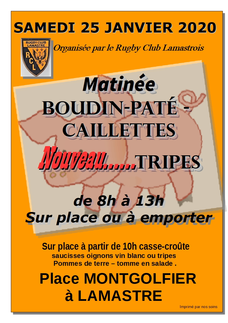 affiche boudin rugby 2020